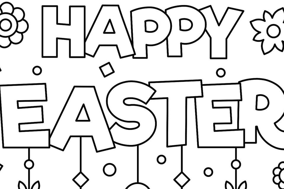 Happy Easter Coloring Pages 2019 | Printable Coloring Easter ...