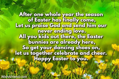 Easter Speeches For Children Poems